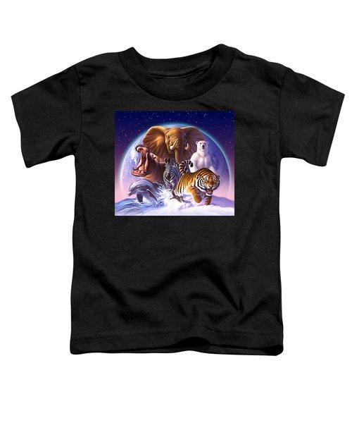 Wild World Toddler T-Shirt by Jerry LoFaro