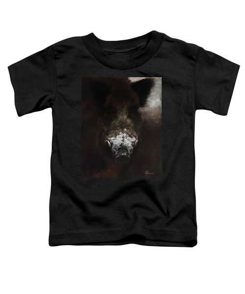 Wildboar With Snowy Snout Toddler T-Shirt