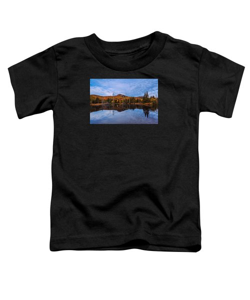 Wildlife Pond Autumn Reflection Toddler T-Shirt