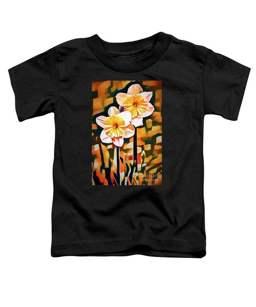 Wildly Abstract Daffodil Pair Toddler T-Shirt