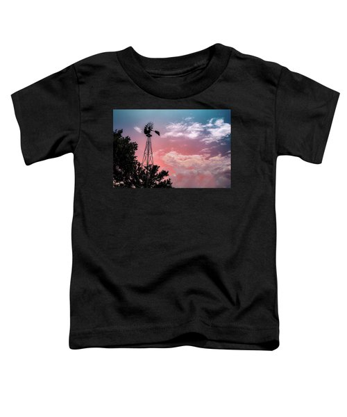 Windmill At Sunset Toddler T-Shirt