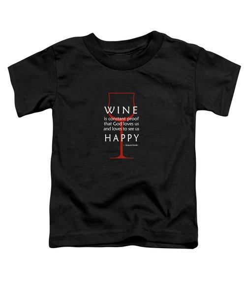 Wine Glasses 2 Toddler T-Shirt