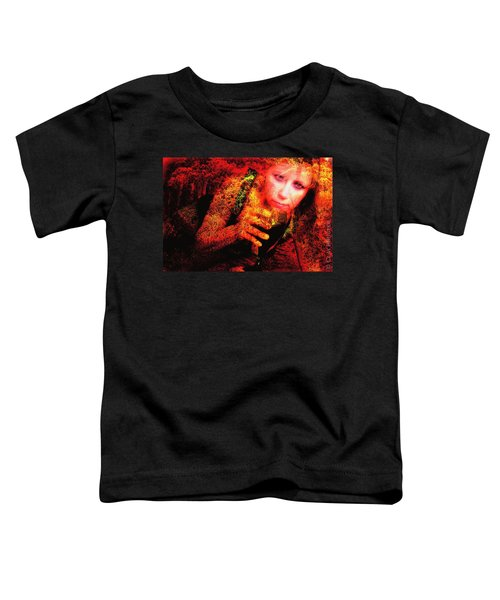Wine Woman And Fall Colors Toddler T-Shirt