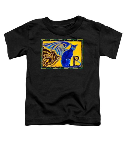 Winged Feline - Cat Art With Letter P By Dora Hathazi Mendes Toddler T-Shirt