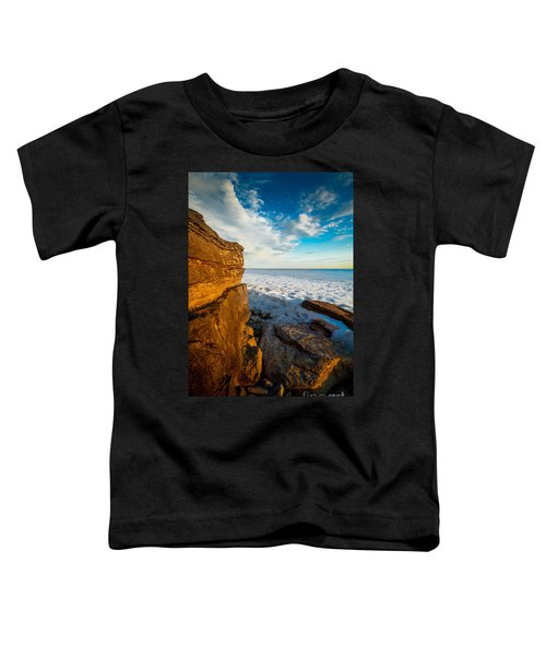 Winter Beach Sunset Toddler T-Shirt