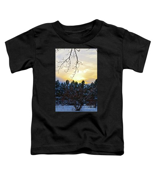 Winter Sunset On The Tree Farm #2 Toddler T-Shirt