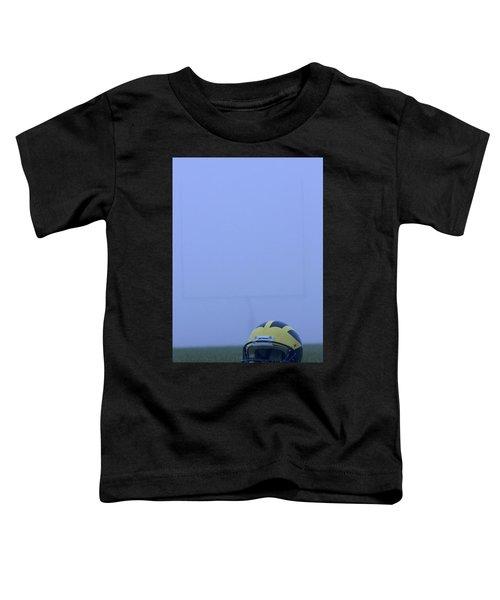 Wolverine Helmet On The Field In Heavy Fog Toddler T-Shirt