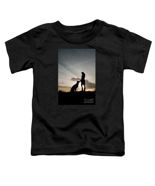 Woman And Dog  Toddler T-Shirt