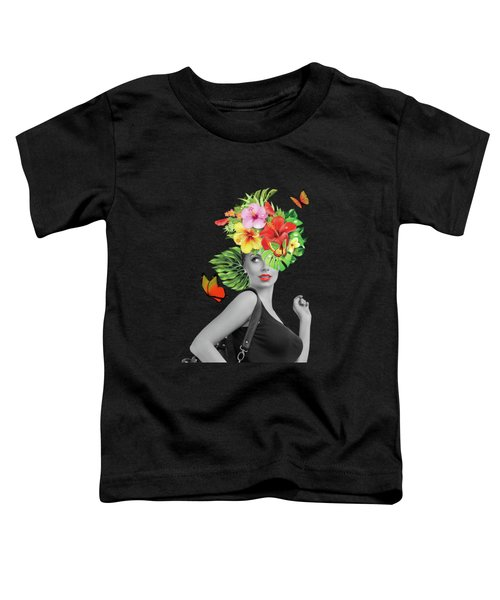 Woman Floral  Toddler T-Shirt