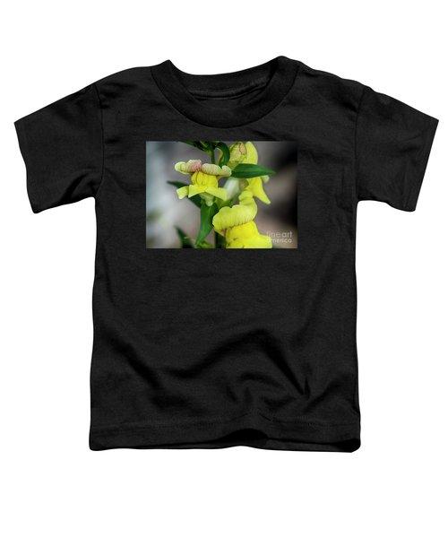 Wonderful Nature - Yellow Antirrhinum Toddler T-Shirt