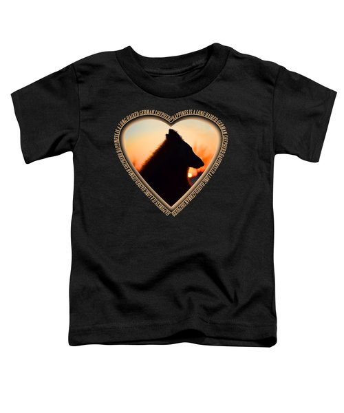 Wuffstar Happiness Is A Long Haired German Shepherd Heart Toddler T-Shirt