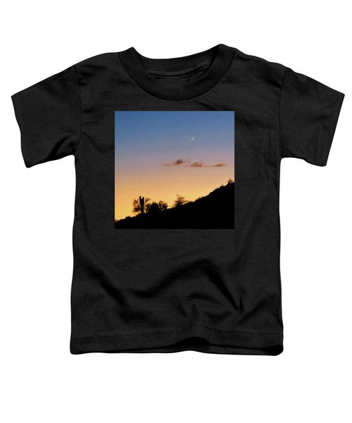 Y Cactus Sunset Moonrise Toddler T-Shirt