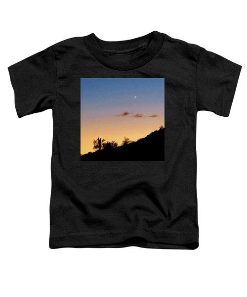 Y Cactus Sunset Moonrise Toddler T-Shirt