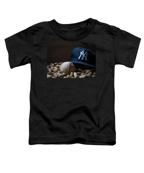 Yankee Cap Baseball And Peanuts Toddler T-Shirt