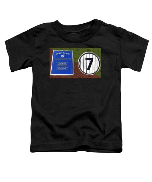 Yankee Legends Number 7 Toddler T-Shirt by David Lee Thompson