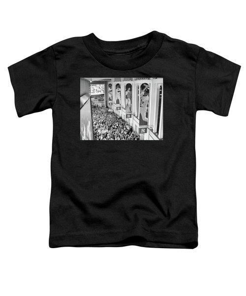 Yankee Stadium Great Hall 2009 World Series Black And White Toddler T-Shirt