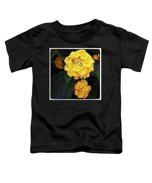 Toddler T-Shirt featuring the photograph Yellow Lantanas Along The Scenic Drive by Mr Photojimsf