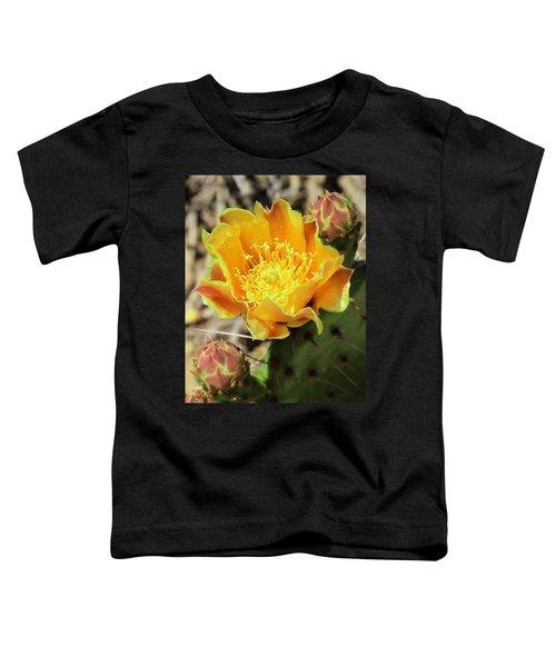 Yellow Prickly Pear Cactus Toddler T-Shirt