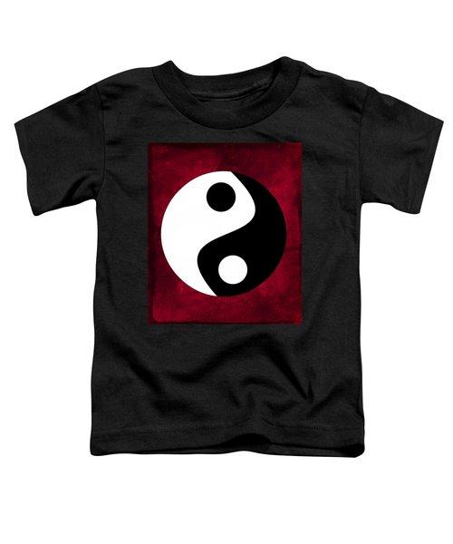 Yin And Yang - Dark Red Toddler T-Shirt