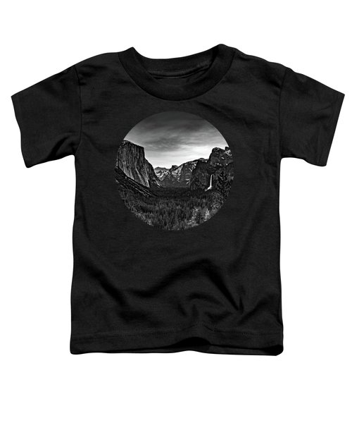 Yosemite Sunrise, Black And White Toddler T-Shirt by Adam Morsa