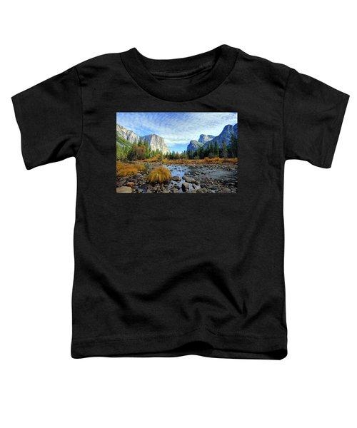 Yosemite Valley View Toddler T-Shirt