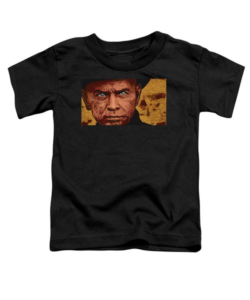 Toddler T-Shirt featuring the digital art Yul Brynner by Antonio Romero