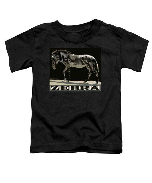 Zebra Design By John Foster Dyess Toddler T-Shirt