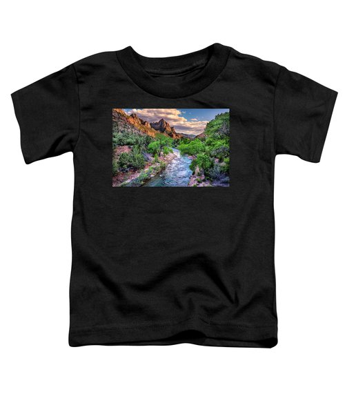 Zion Canyon At Sunset Toddler T-Shirt