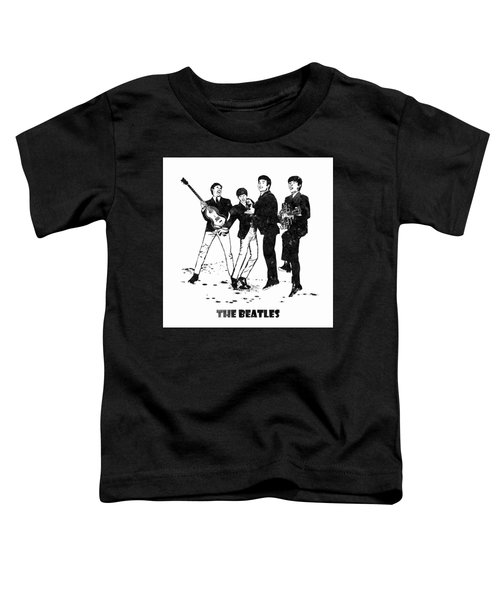 The Beatles Black And White Watercolor 02 Toddler T-Shirt