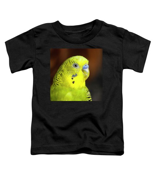 Portrait Of Budgie Birds Toddler T-Shirt