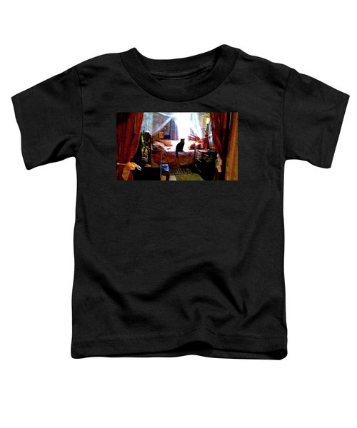 Toddler T-Shirt featuring the digital art A Cat's Favorite Spot by Joy McKenzie
