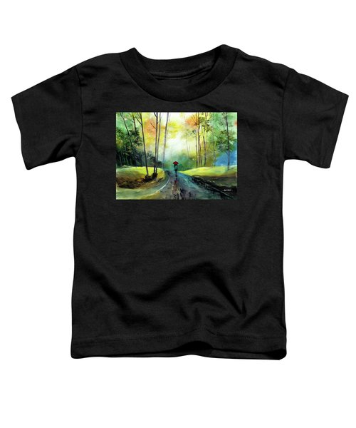 A Walk In The Rain Toddler T-Shirt