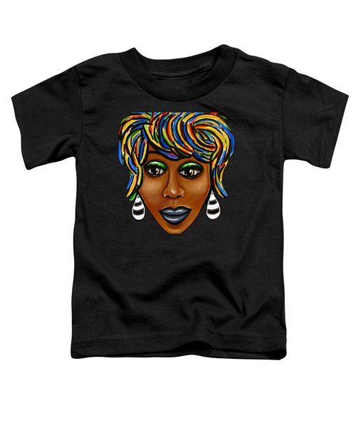 Abstract Art Black Woman Retro Pop Art Painting- Ai P. Nilson Toddler T-Shirt