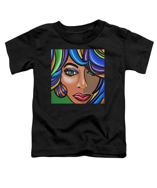 Abstract Woman Artwork Abstract Female Painting Colorful Hair Salon Art - Ai P. Nilson Toddler T-Shirt