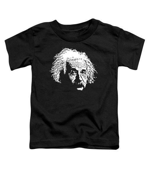 Albert Einstein Minimalistic Pop Art Toddler T-Shirt