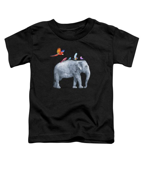All Aboard The Exotic Elephant Taxi Service Toddler T-Shirt