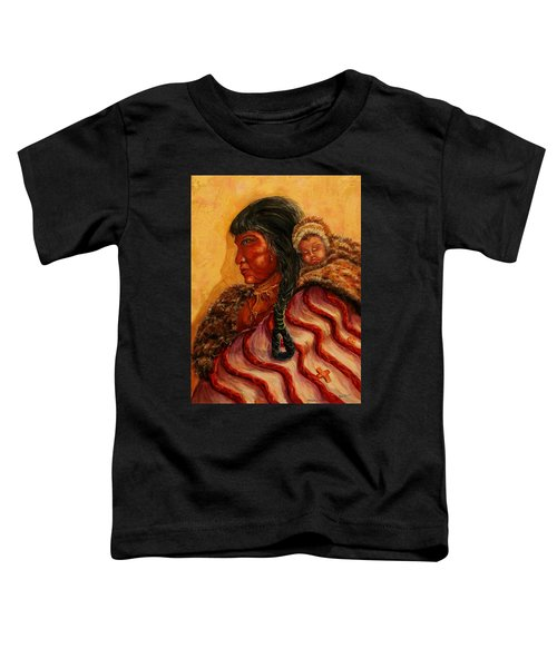 American Indian Mother And Child Toddler T-Shirt