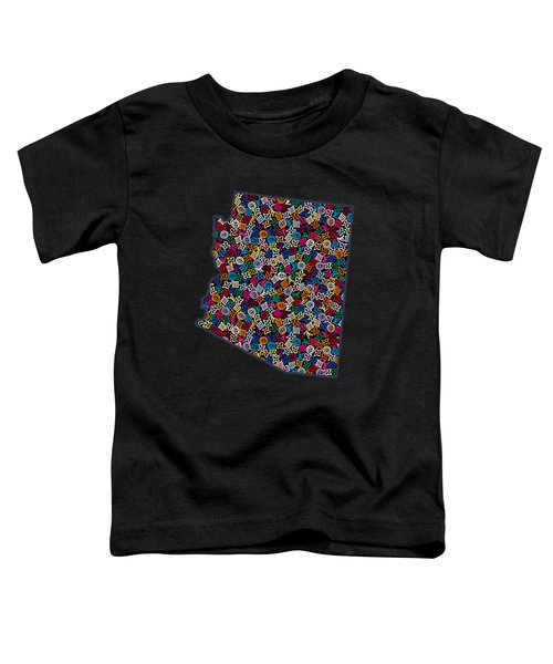 Arizona Map - 2 Toddler T-Shirt