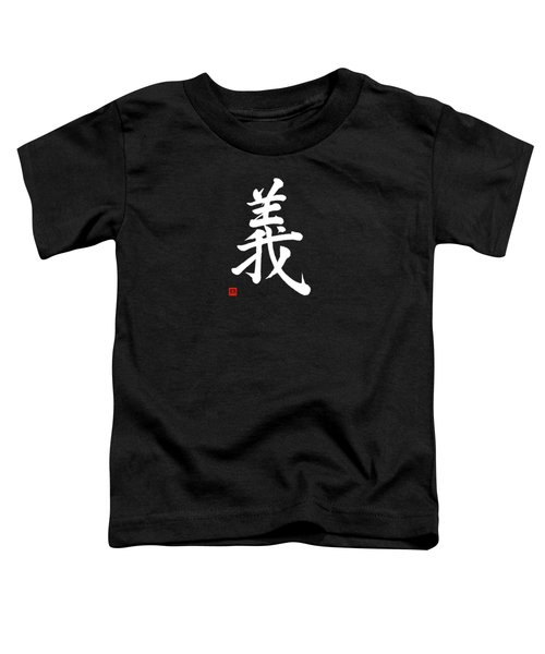 The Kanji Gi Or Right Action In Gyosho Toddler T-Shirt