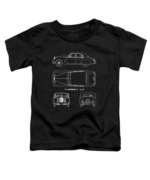 Jaguar Mk Vii Blueprint Toddler T-Shirt