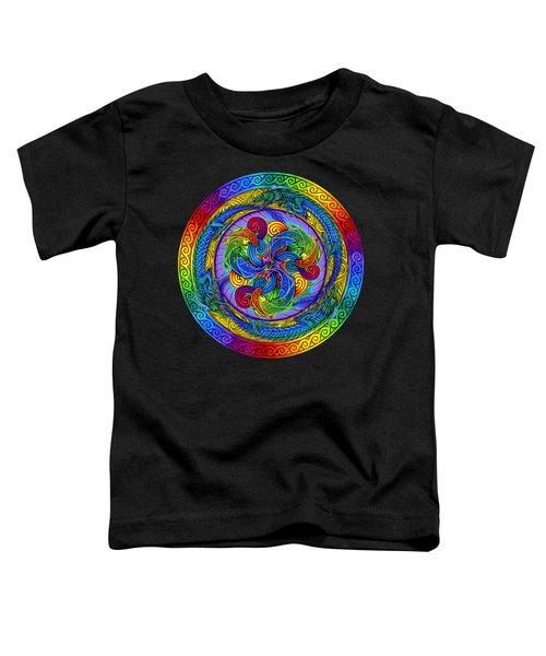 Psychedelic Dragons Rainbow Mandala Toddler T-Shirt