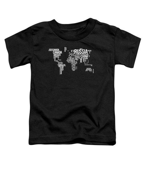 World Map Typo Toddler T-Shirt