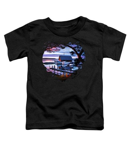 Door County Anderson Dock Sunset Toddler T-Shirt