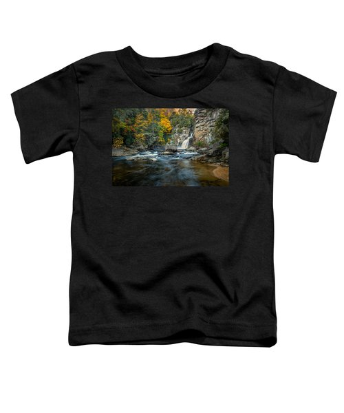 Autumn At Linville Falls - Linville Gorge Blue Ridge Parkway Toddler T-Shirt