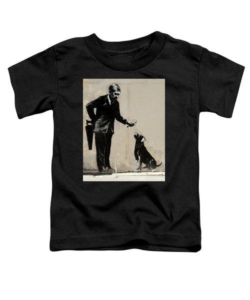 Banksy Paris Man With Bone And Dog Toddler T-Shirt