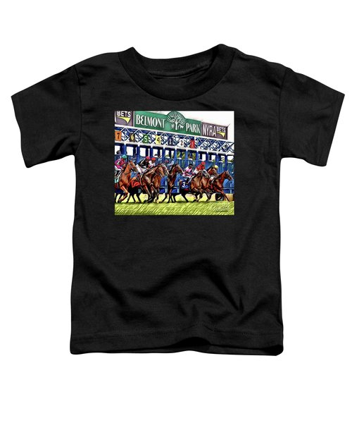Belmont Park Starting Gate 2 Toddler T-Shirt