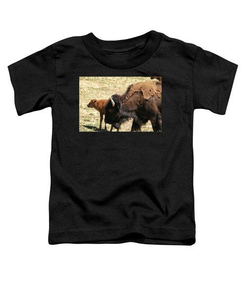 Bison In North Dakota Toddler T-Shirt