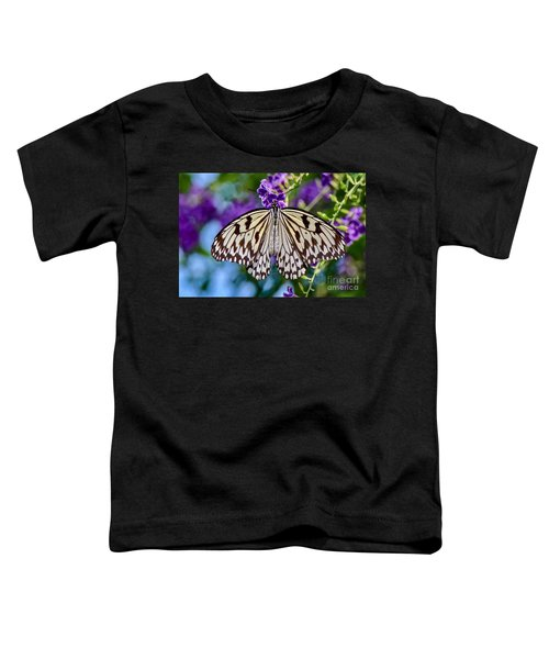 Black And White Paper Kite Butterfly Toddler T-Shirt