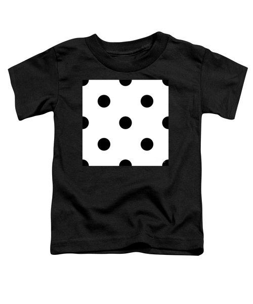 Black Dots On A White Background- Ddh610 Toddler T-Shirt