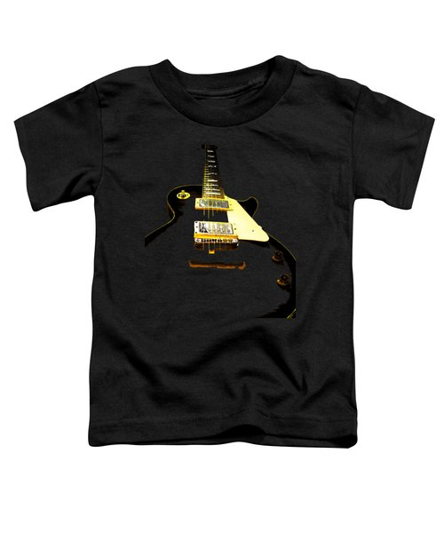 Black Guitar With Gold Accents Toddler T-Shirt